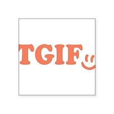 TGIF - Smiley Face - Peach Sticker