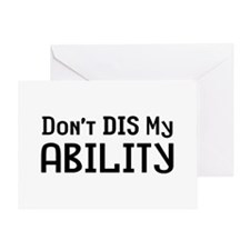 Don't Ability Greeting Card