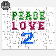 Peace Love 2 birthday designs Puzzle