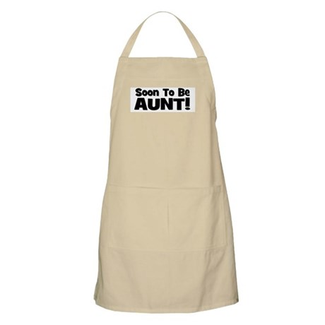 Soon To Be Aunt! Black BBQ Apron