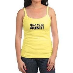 Soon To Be Aunt! Black Jr.Spaghetti Strap