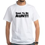 Soon To Be Aunt! Black White T-Shirt