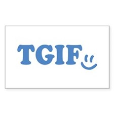 TGIF - Smiley Face - Blue Decal
