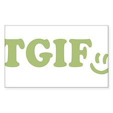 TGIF - Smiley Face - Green Decal