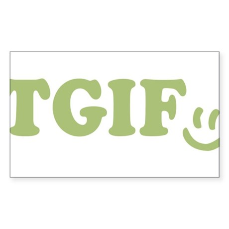 TGIF - Smiley Face - Green Sticker