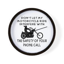 My Motorcycle Ride Wall Clock