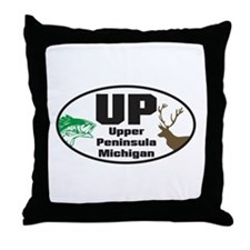 Upper Peninsula Throw Pillow