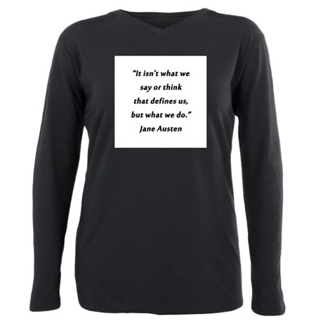 Austen - Say or Think Plus Size Long Sleeve Tee