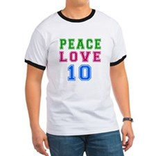 Peace Love 8 birthday designs T