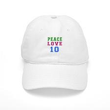 Peace Love 8 birthday designs Baseball Cap