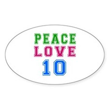 Peace Love 8 birthday designs Decal