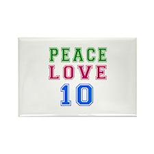 Peace Love 8 birthday designs Rectangle Magnet