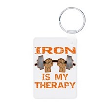 Iron Is My Therapy Keychains