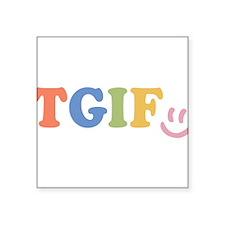TGIF - Smiley Face - Rainbow Colors Sticker