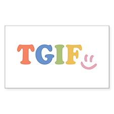 TGIF - Smiley Face - Rainbow Colors Decal