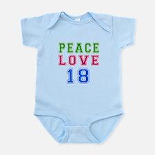 Peace Love 18 birthday designs Infant Bodysuit