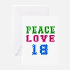 Peace Love 18 birthday designs Greeting Card