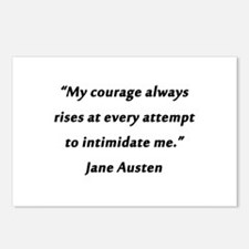 Austen - Courage Always Rises Postcards (Package o
