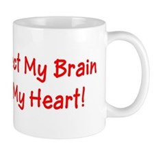 MS Affects My Brain Never My Heart Small Mug