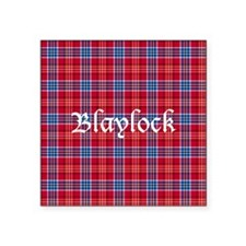 "Tartan - Blaylock Square Sticker 3"" x 3"""