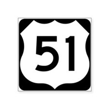 US Highway 51 Rectangle Sticker