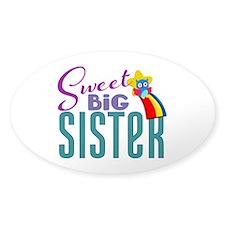 Sweet Big Sister Owl Decal