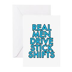 Real men drive stick shifts - Greeting Cards (Pk o