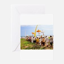 Bali Temple Ceremony 1 Greeting Card