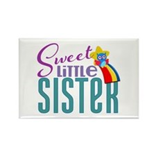 Sweet Little Sister Owl Rectangle Magnet