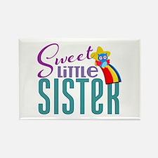 Sweet Little Sister Owl Rectangle Magnet