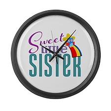 Sweet Little Sister Owl Large Wall Clock
