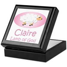 Lamb of God - Claire Keepsake Box