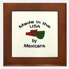 Made in the USA by Mexicans Framed Tile