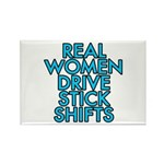 Real women drive stick shifts - Rectangle Magnet (