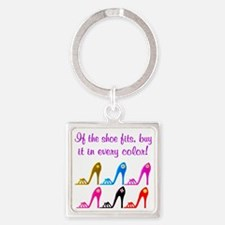 DAZZLING SHOES Square Keychain