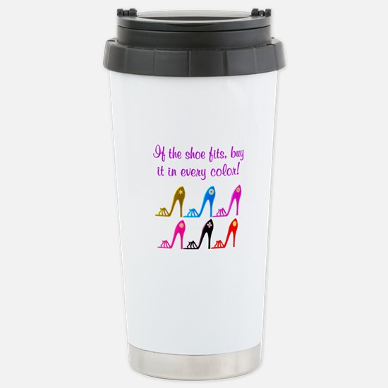 DAZZLING SHOES Stainless Steel Travel Mug