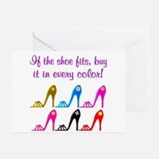 DAZZLING SHOES Greeting Card