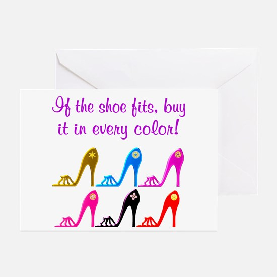 DAZZLING SHOES Greeting Cards (Pk of 20)