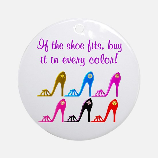 DAZZLING SHOES Ornament (Round)