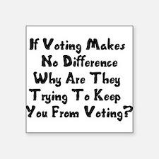 """GOP War On Voting Square Sticker 3"""" x 3"""""""