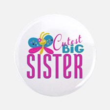 """Cutest Big Sister Butterfly 3.5"""" Button (100 pack)"""