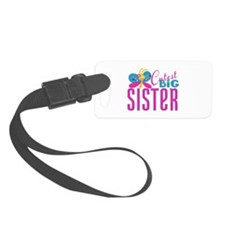 Cutest Big Sister Butterfly Luggage Tag