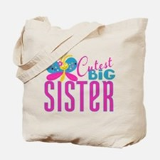 Cutest Big Sister Butterfly Tote Bag