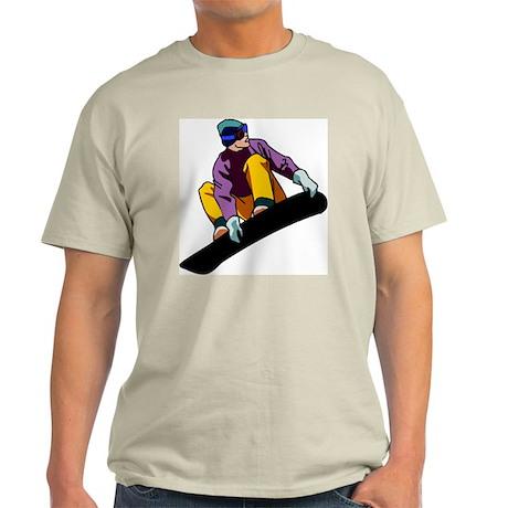 Snowboarder Ash Grey T-Shirt