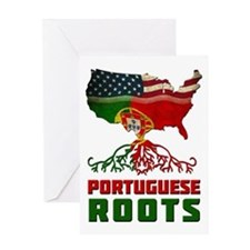 American Portuguese Roots Greeting Card