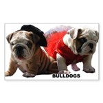 BULLDOG SMILES Rectangle Sticker