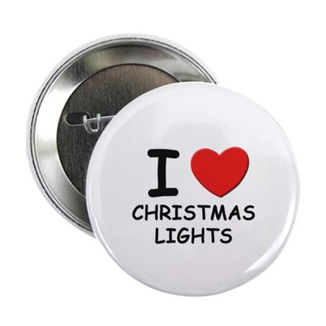 I love christmas lights Button