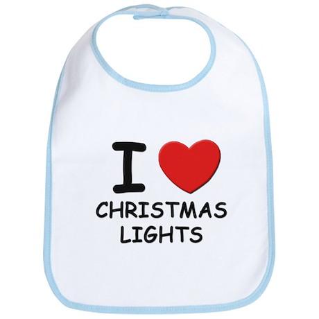 I love christmas lights Bib
