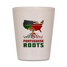 American Portuguese Roots Shot Glass