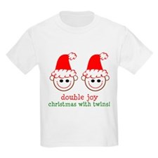 Twins Xmas Double Joy Kids T-Shirt
